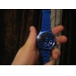 Кварцевые наручные часы с силиконовой лентой