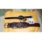 des hommes et des femmes compacte pu analogique montre-bracelet à quartz (couleurs assorties)