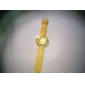 Fashionable Quartz Wrist Watch with Yellow Silicone Band Cool Watches Unique Watches