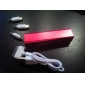 Batteria esterna 2400mAh per iPhone, cellulari, MP3, etc. - Colori casuali