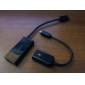 3-In-1 Micro USB Male to USB Male, USB Female and HDMI Data Cable (Black)