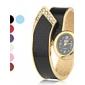 Mulheres Relógio Elegante Relógio de Moda Relógio de Pulso Bracele Relógio Quartzo Lega Banda Bracelete Elegantes Preta Branco Vermelho