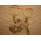 coeur et clé porte-clés en métal en forme de (1 paire)