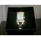 Кварцевые аналоговые женщин Diamante золота PU группы наручные часы