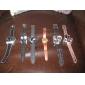 여성의 플라스틱 아날로그 석영 손목 시계 (블랙)