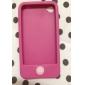 Nuttet Gris Beskyttende Silikone Cover til iPhone 4 og 4S (Blandede Farver)