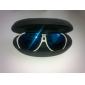 Unisex Funky White Frame Blue Lens UV Protection Sunglasses (UV400)
