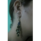 Vintage Peacock Earrings With Colorful Gem
