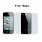 Durchsichtige Display-Schutzfolie  mit Reinigungstuch für iPhone 4/4S für Vorder- u. Rückseite