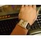Mekanisk Armbåndsur med Sort Læder Rem Herrer