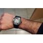 Masculino Relógio Esqueleto relógio mecânico Automático - da corda automáticamente Gravação Oca Aço Inoxidável Banda Preta