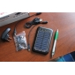 6-i-1 bærbar solpanel oplader + LED lommelygte for iphone 4/cellphones (sort)