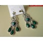 Boucle Boucles d'oreille goutte Bijoux Soirée / Quotidien Argent sterling / Gemme / Turquoise Femme Argent / Vert