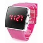 Montre LED Sportive, En Silicone, Unisexe - Rose
