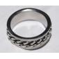 унисекса металлические цепи титана стали кольцо