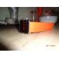 унисекс красный светодиод цифровые квадратном корпусе оранжевого силиконовой лентой наручные часы