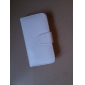 Premium PU Leather Case for iPhone 4 (White)