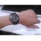 Hombre Reloj Militar Cuarzo Nailon Banda Negro / Blanco Marca-