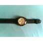 femmes montre-bracelet en silicone analogique quartz (noir)