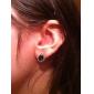 lureme®retro simples clous d'oreille cristal