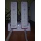 аккумуляторные Dual USB зарядки док / ПОВ / станции с двумя аккумуляторами (2800mAh) для Wii