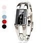 Women's Watch Fashionable Rectangle Case Silver Alloy Bracelet