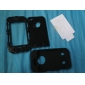 Extra Tough Protective Impact Housing Case + LCD Screen Protector for iPhone 4 (Black)