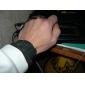 Hommes Montre Bracelet Numérique LED Calendrier Silikon Bande Noir Noir