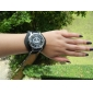 Military Black Leather Band Quartz Wrist Watch with Dismountable Case