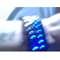 Couple's Blue LED Lava Style Plastic Band Digital Wrist Watches (Black & White, 1-Pair) Cool Watches Unique Watches
