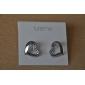 Lureme®Heart Shaped Rhinestone Earrings (Assorted Colors)
