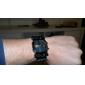 för män plast analog - digital ledde armbandsur (svart)