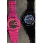 Pair of Waterproof Digital Automatic Watches with Night Light - Pink and Blue