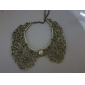 Vintage Style Bronze Hollow Metal Flower Shape Collar Choker BIB Necklace