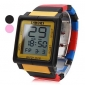 Unisex Touch Screen Plastic Digital Automatic Wrist Watch (Assorted Colors)