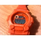 Unisex LCD Digital Multi-Functional Silicone Band Sporty Wrist Watch (Red)