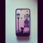 Protective Polycarbonate Bumper and Back Cover for iPhone 4 and 4S (Black Cat)