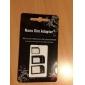 Adaptateur Micro Sim et Nano Sim pour iPhone 4/4S et iPhone 5