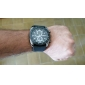 Orologio New Stilish, sportivo, da uomo, cinturino in silicone nero
