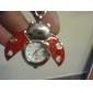 빨간색 무당 벌레 스타일 석영 아날로그 키 체인 시계