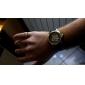 남자의 PU 아날로그 기계식 손목 시계 (블랙)