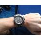 Montre Sportive à Quartz pour Homme, Bracelet en Silicone Noir