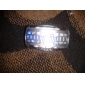 퓨처리스틱 블루 LED 손목시계 한쌍 - 블랙 & 화이트