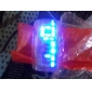 Unisex Futuristic Blue LED Digital White Band Bracelet Watch Cool Watches Unique Watches Fashion Watch
