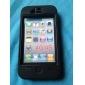Case Pára-Choques Extra Grossa + Protector de Tela LCD para iPhone 4 (Preto)