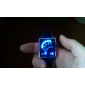 Relógio LED Azul Moderno (preto)