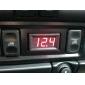 4.0-30v digitais vermelho mina levou voltímetro auto caminhão do carro