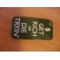 iphone 4/4s를위한 sloganeer 스타일의 하드 케이스