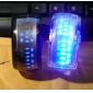 Пара футуристических наручных часов с синим LED - чёрные и белые