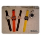 Reloj del cuarzo de silicona banda estilo unisex informal (colores surtidos)